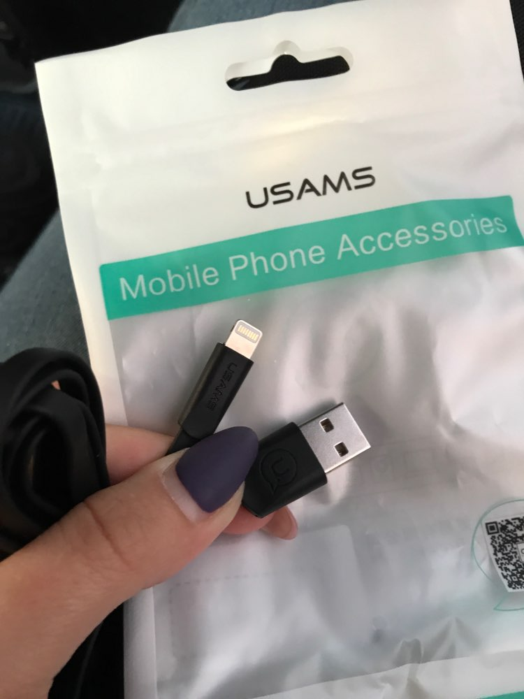 USAMS USB Phone Cable for iPhone XR XS Cable for iPad iPhone 6 7 8 plus Data Sync USB 2A Charging Cable for iOS 12 11 Apple-in Mobile Phone Cables from Cellphones & Telecommunications on AliExpress