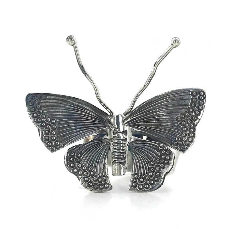 Handwork Butterfly Silver Ring