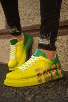 Chekich CH254 BT Men Sneakers 432 Yellow / Green FREE chekich ch254 bt 308 yellow navy men s sneakers