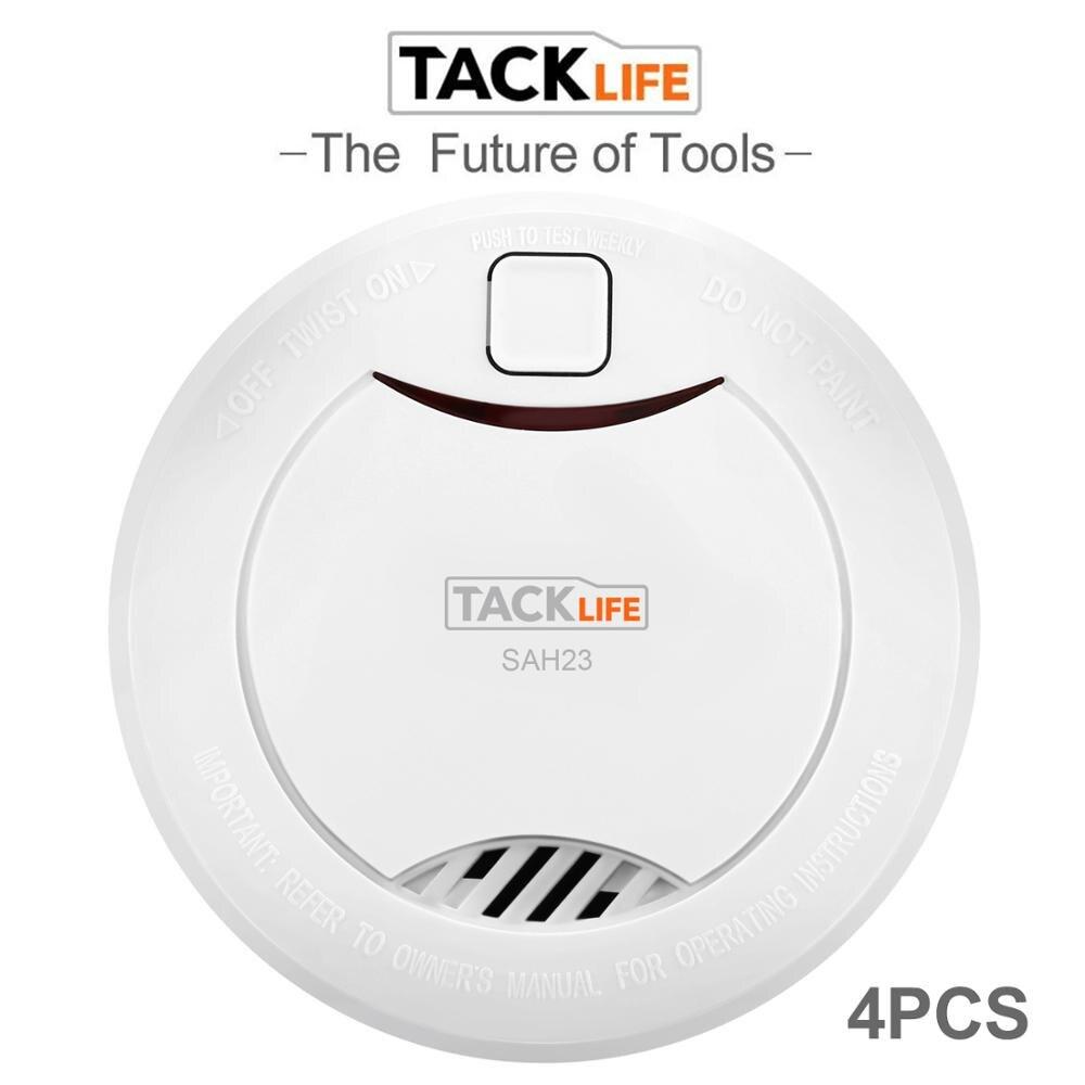 Tacklife 4PCS Rauchmelder Alarm Zubehör Sensitive Alarm System Rauch/Feuer Detektor Für Home Security Alarm System