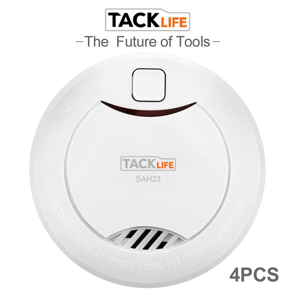 Tacklife 4PCS Smoke Detector Alarm Accessories Sensitive Alarm System Smoke/Fire Detector For Home Security Alarm System