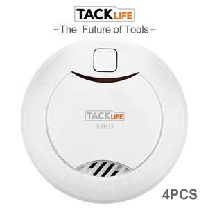 Tacklife 4PCS Smoke Detector Alarm Accessories Sensitive Alarm System Smoke/Fire Detector For Home Security Alarm System