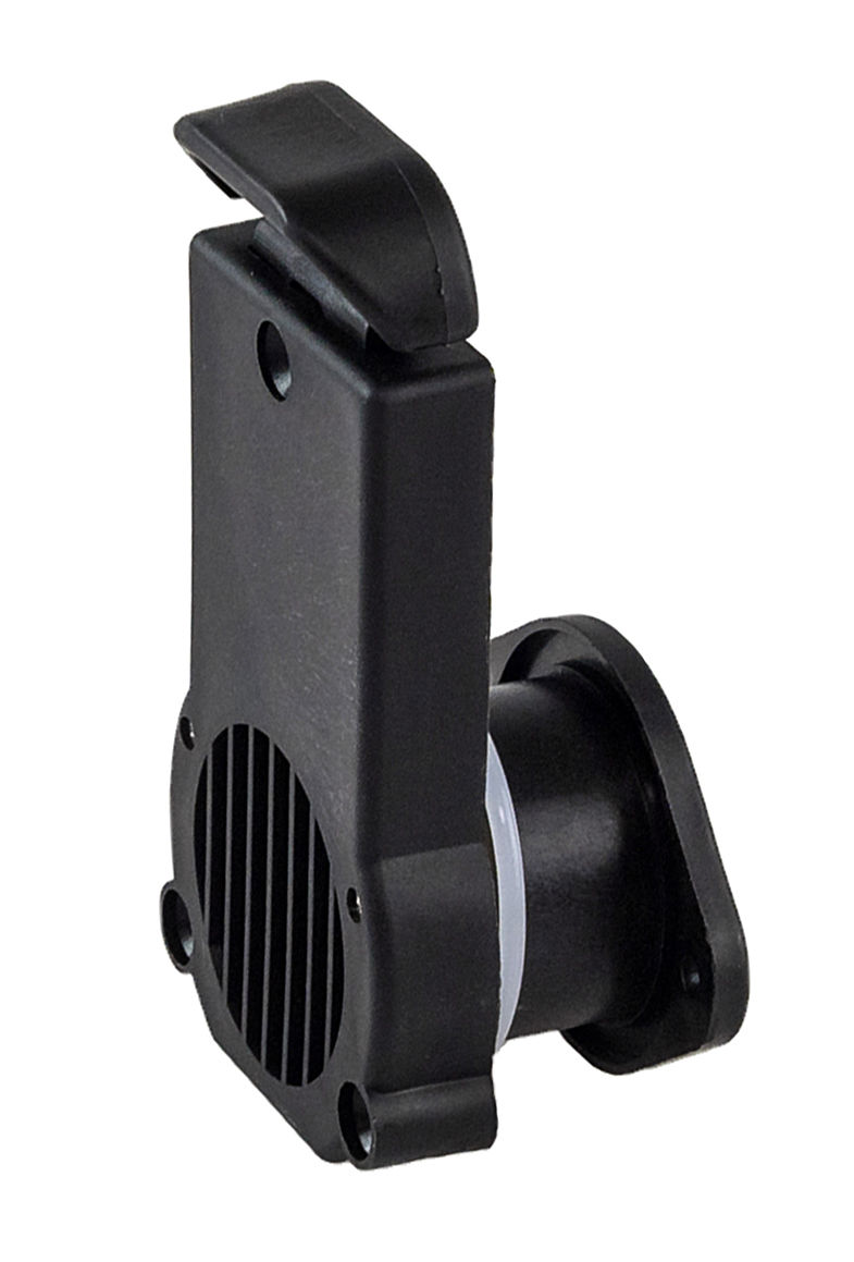 Drain Valve With Gate For PVC Boat H24mm, Black