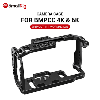 цена на SmallRig bmpcc 4k Cage DSLR Camera Blackmagic Pocket 4k / 6K Camera for Blackmagic Pocket Cinema Camera 4K / 6K BMPCC 4K 2203B