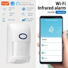 Tuya WiFi inteligente detectores infrarrojos Alarma de Sensor de movimiento inalámbrico Compatible, sistema de seguridad con Tuya APP de vida inteligente APP