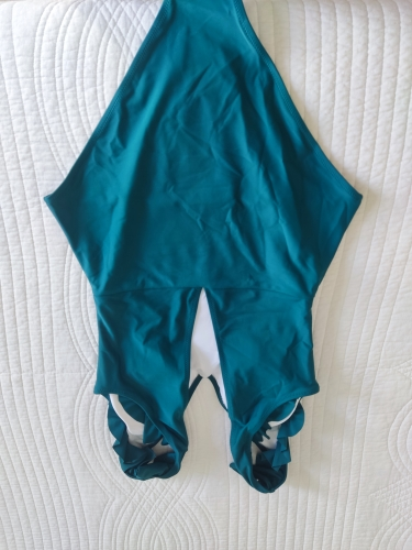 CUPSHE Green Teal Plunging Solid One Piece Swimsuit Women Ruffle Ruched Monokini 2021 Girl Beach Bathing Suits|Body Suits|   - AliExpress
