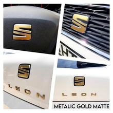 Наклейка с логотипом для Seat Leon MK3 5F, Набор наклеек с голограммой, карбоновая эмблема сиденья для моделей Leon, варианты цветов, наклейка s