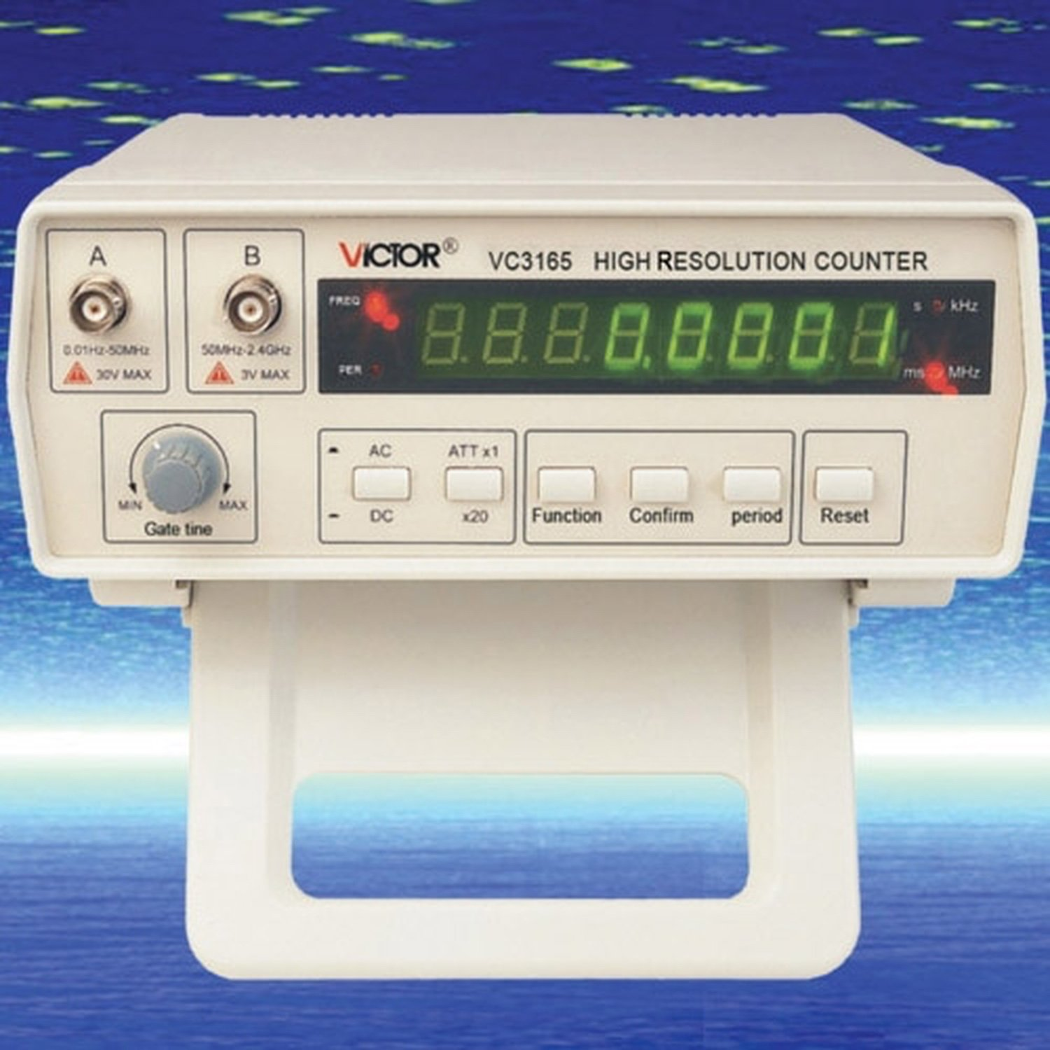 Frequency Counter Victor VC3165 ring pattern electronic counter