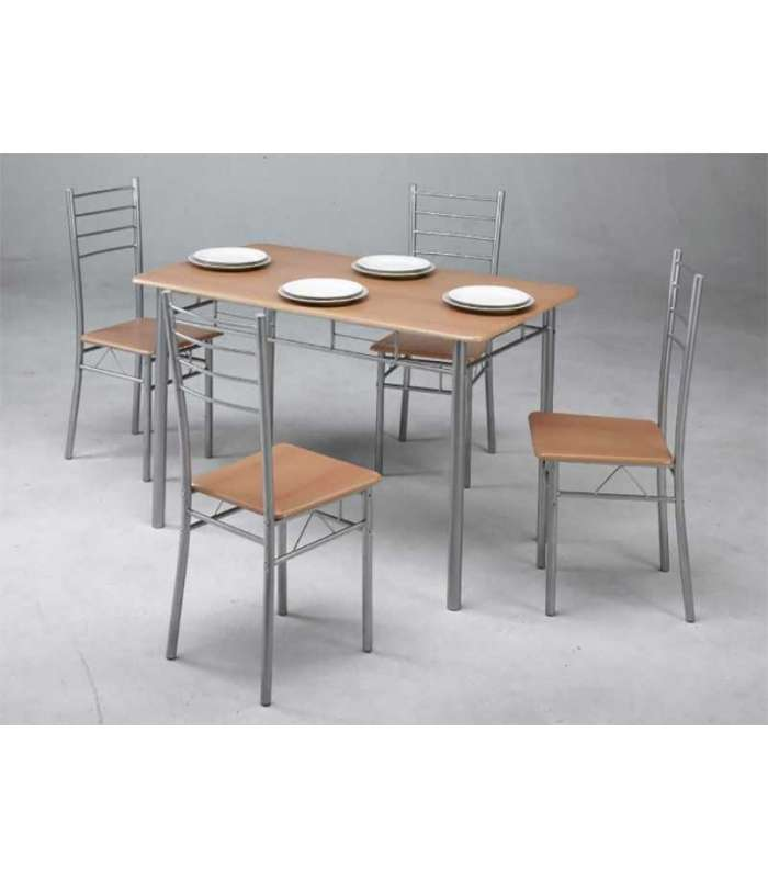 Set Of Kitchen Table And 4 Chairs Has