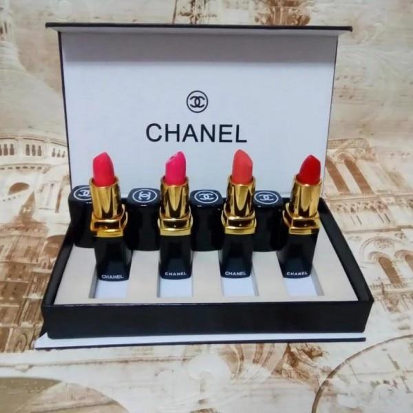 Набор Chanel помада 4в1|Наборы для макияжа|   | АлиЭкспресс