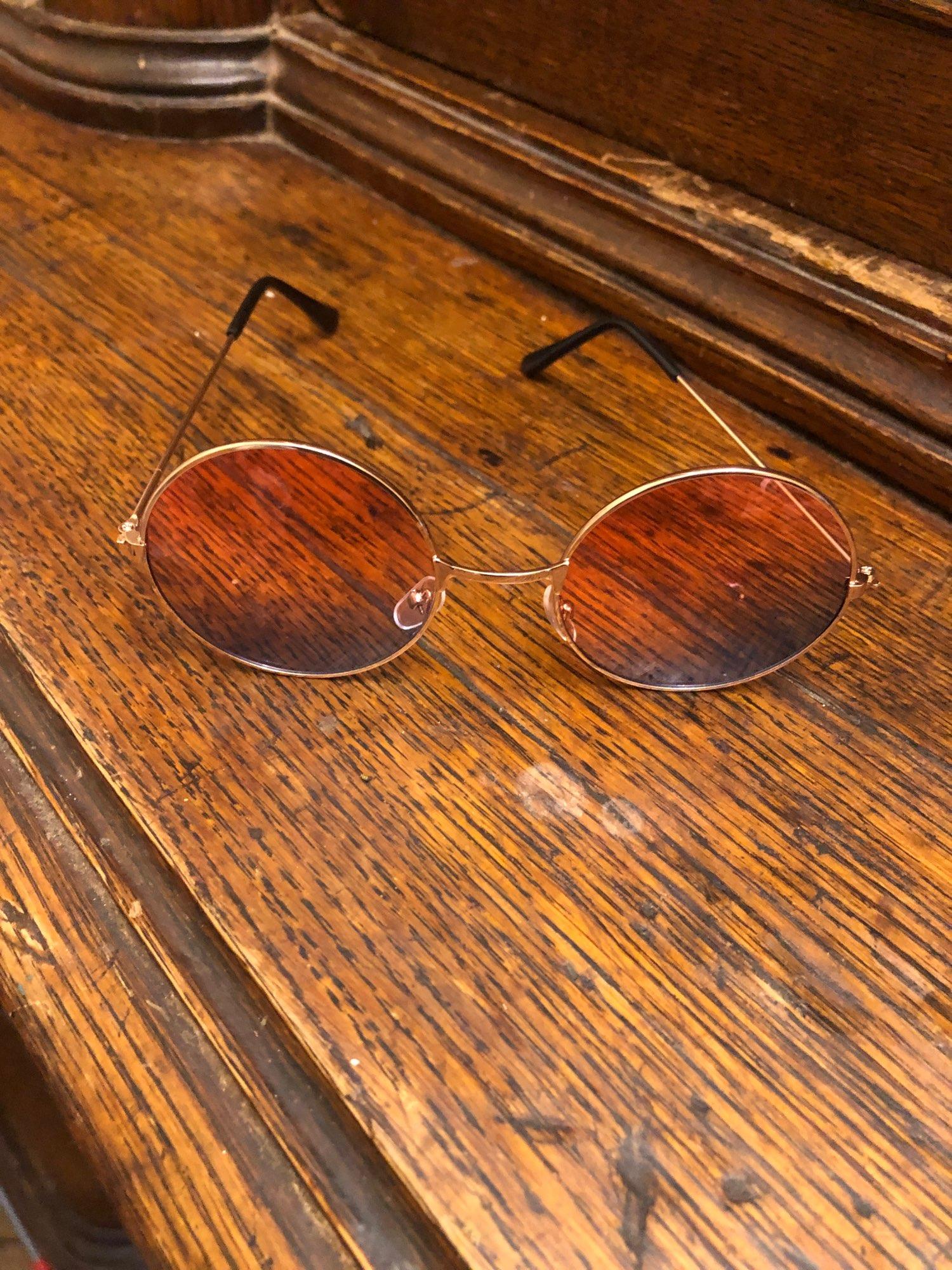 SAKFHIA Small Round Colorful Mirror Vintage Sunglasses for Women photo review