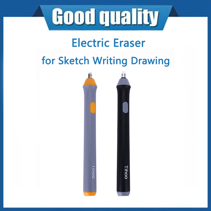 Электрический ластик для эскизов, стирательное устройство на батарейках для школы и офиса, студентов, подарок, Канцтовары