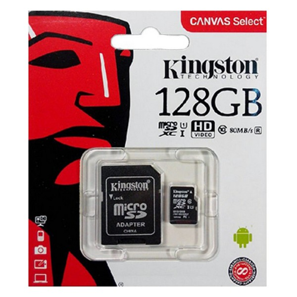 Micro SD Memory Card With Adaptor Kingston SDCS2 100 MB/s ExFAT