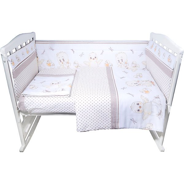 Cot set Edelweiss Chickens, 6 pieces cot edelweiss birds