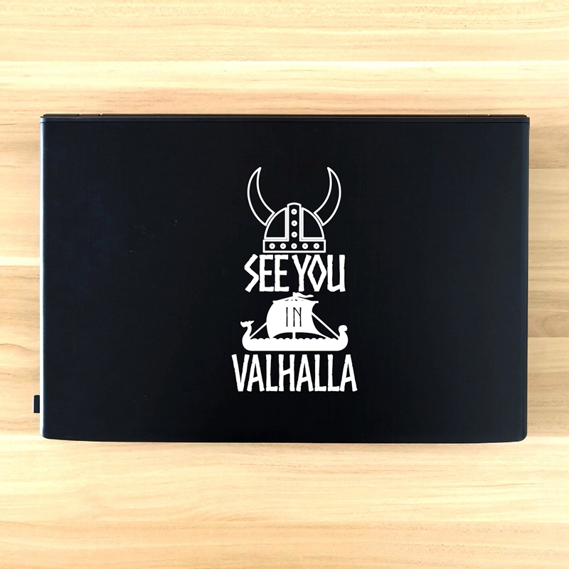 See You In Valhalla Laptop Decals