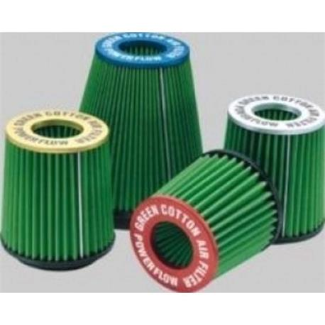 TA9.70 Green Filter Universal Power Flow Cylindrical Silver Ta9.70|Air Filters| |  - title=