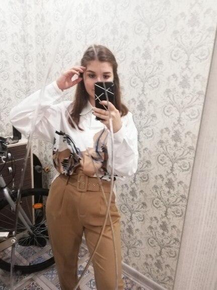 Plus Size Shirt Printed Vintage Summer Blouse Women Fashion Streetwear Female Casual Loose Korean Blusas photo review