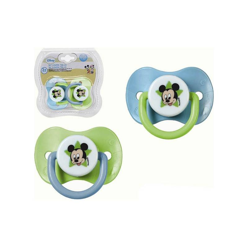 Set Silicone Pacifiers Mickey Mouse Disney + 3m 119070 (2 Pcs)