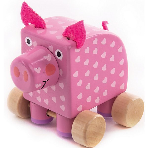 Figurine Wooden Wood Pig Oink