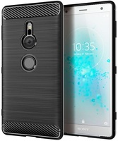Case Sony Xperia XZ2 color Black (Black), carbon series, caseport