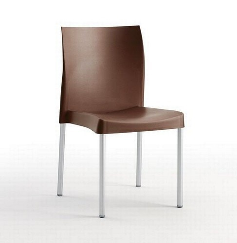 Chair SANDRA, Aluminum, Polypropylene Chocolate *