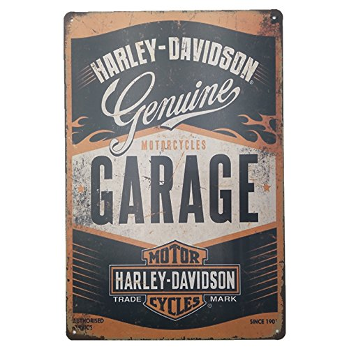 MARQUISE & LOREAN | Decorative Plates Vintage Metal Harley Davidson. Posters Tin Sign Wall Retro image
