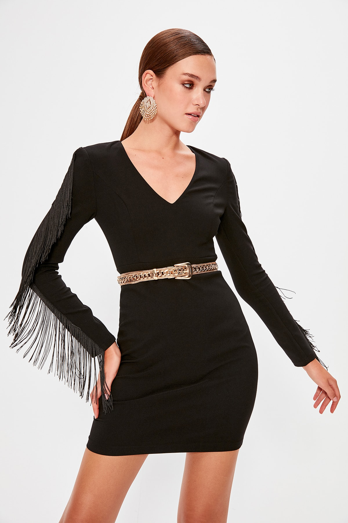 Trendyol Sleeve Detail Dress TPRAW20EL0604