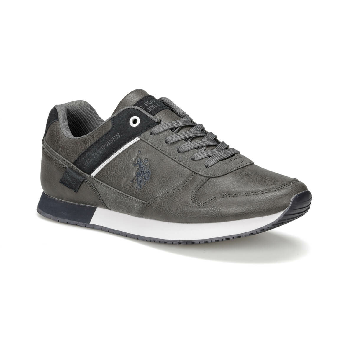 FLO Gray Men's Sneaker Shoes Man U.S. POLO ASSN. FORTH 9PR