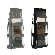 6 Pockets Double Sided Hanging Organizers For Handbags Purses Dust-proof Wardrobe Storage Bags Space-saving Briefcases Organizer сковорода brizoll horeca 16 см с разделочной доской