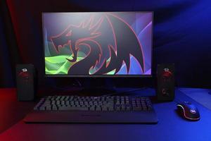 Image 5 - Redragon GS500 Stentor gry komputerowe głośnik, 2.0 kanałowy pulpit Stereo głośnik komputerowy z czerwone podświetlenie i jakości bas