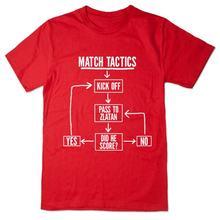Мужская тактика шага забавная футболка футбольного мяча pass