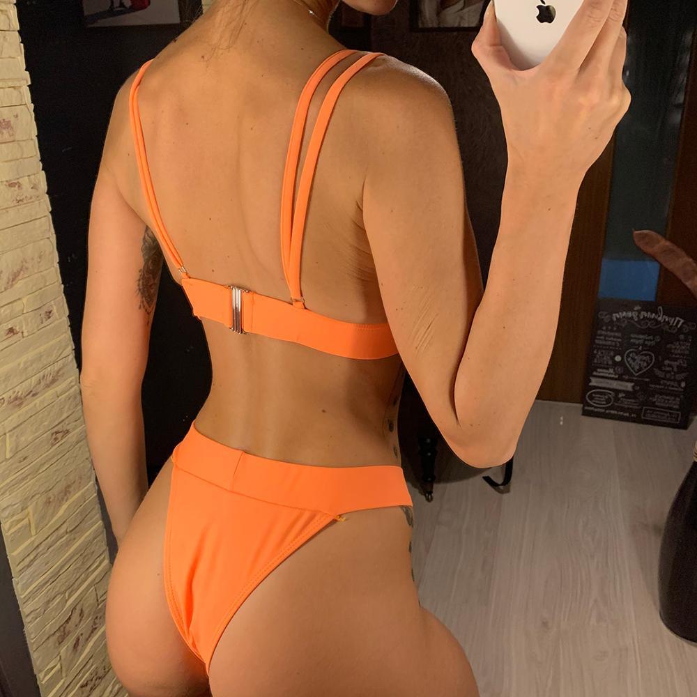Sexy White Black Brazilian Bikini 2020 Women Swimwear Female Swimsuit Two-pieces Bikini set Bather Bathing Suit Swim Beach V1740 4