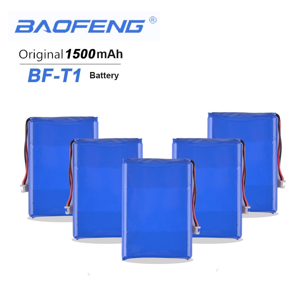 5PCS Mini Baofeng BF-T1 3.7V 1500mAh Li-ion Battery For Baofeng BFT1 Walkie Talkie BF T1 Baofeng Radio AccessoriesTwo Way Radio