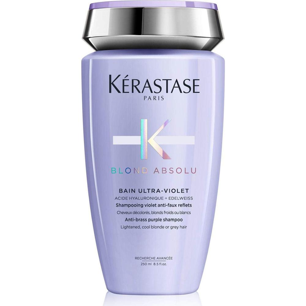 Kerastase Blond Absolu Bain Ultra - Violet - Silver Purple Shampoo for Blonde and Gray Hair 250Ml