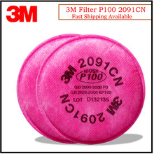 Filtro de Partículas 3M 2091 Original, protección respiratoria P100, uso eficiente con máscara 3M, LT044