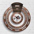 Персонализированные профессиональные женские детализирующие бесконечный календарь Майя деревянные настенные часы-1