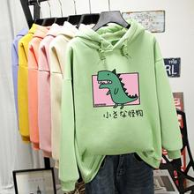2020 Hoodies Woman Harajuku Cartoon Dinosaur Print hoodie-women