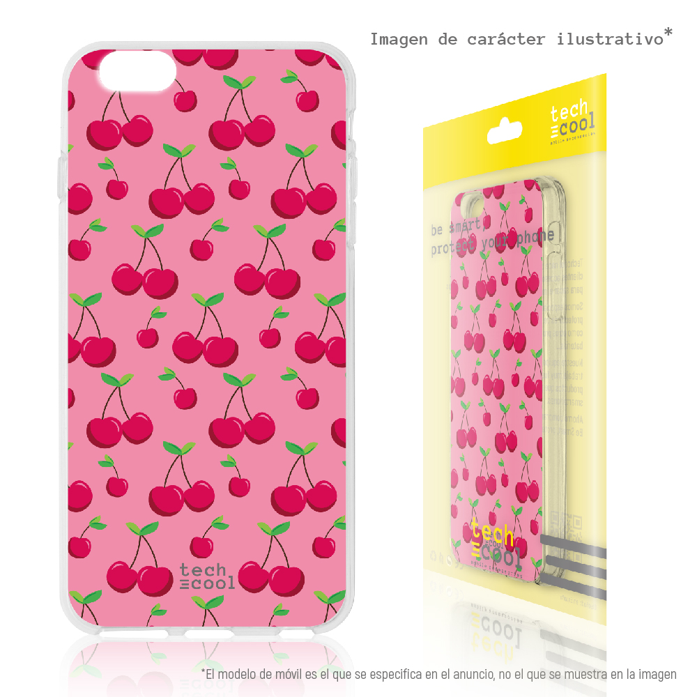 FunnyTech®<font><b>Silicone</b></font> <font><b>Case</b></font> for <font><b>Huawei</b></font> <font><b>Y6</b></font> <font><b>2018</b></font> / Honor 7A l cherries pink background image
