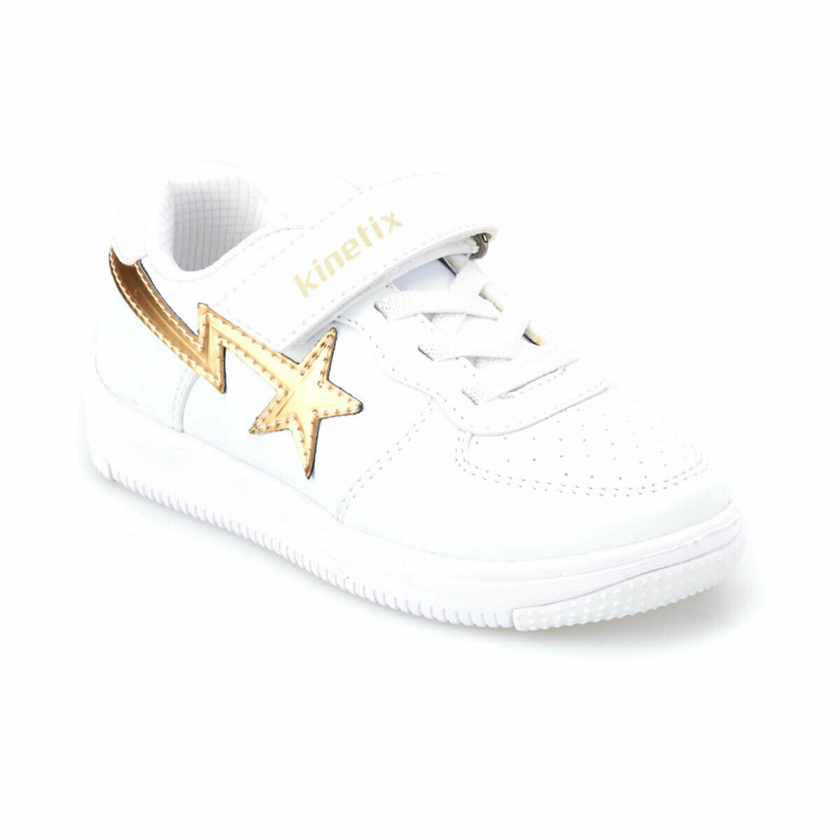 FLO KALEN GIRL White Female Child Sneaker Shoes KINETIX