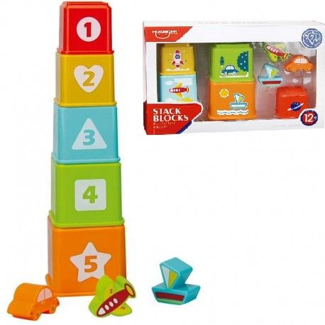 BOX STACKABLE CUBES WITH ACCESSORIES JUGATOYS