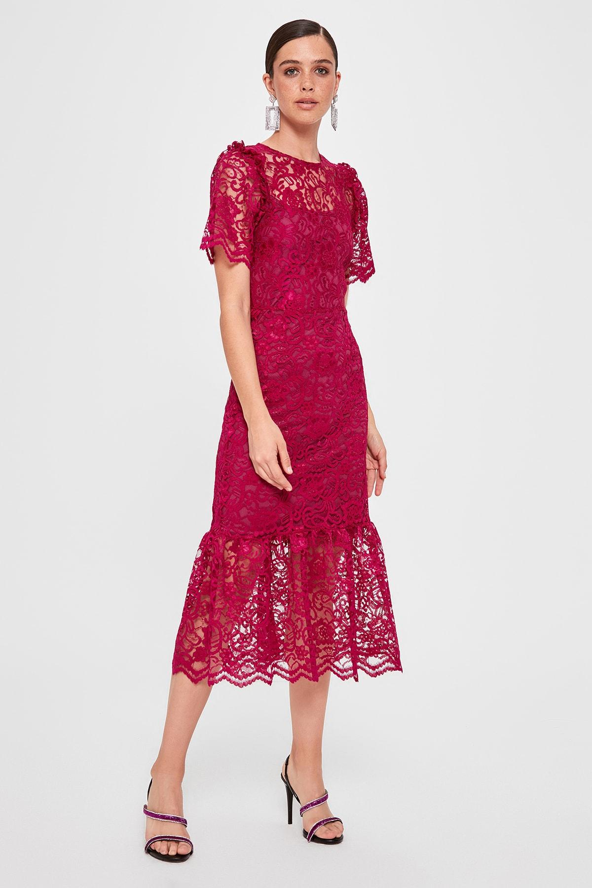 Trendyol Lace Dress TPRAW20EL2199