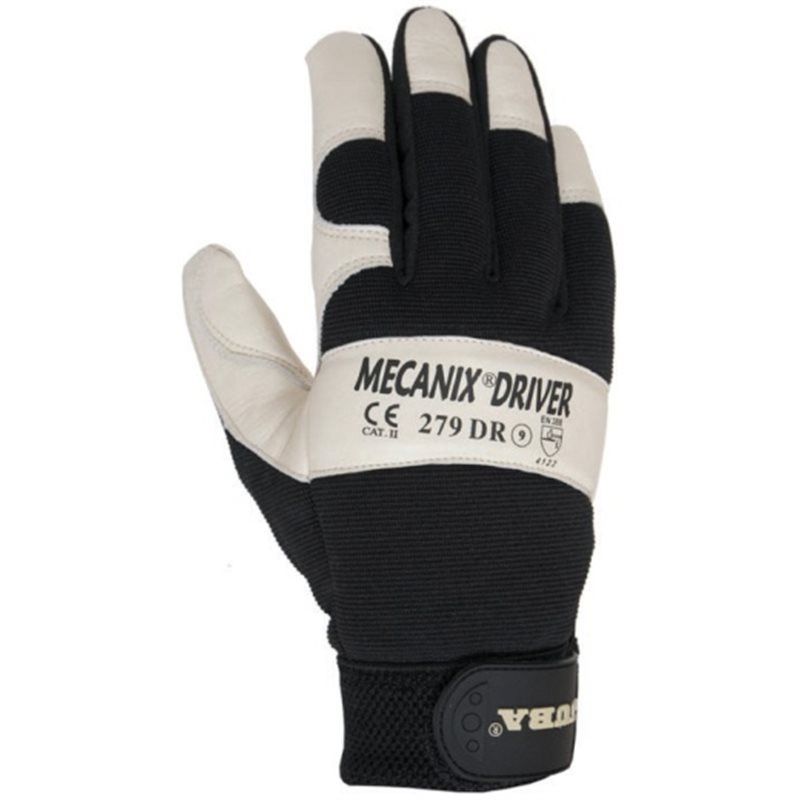 SKIN GLOVE GRAIN COWHIDE BACK AND THUMB NYLON T-08 MECANIX