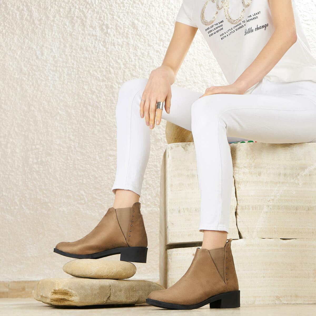 FLO FAITH11Z SHEEPSKIN Mink Women 'S Boots BUTIGO