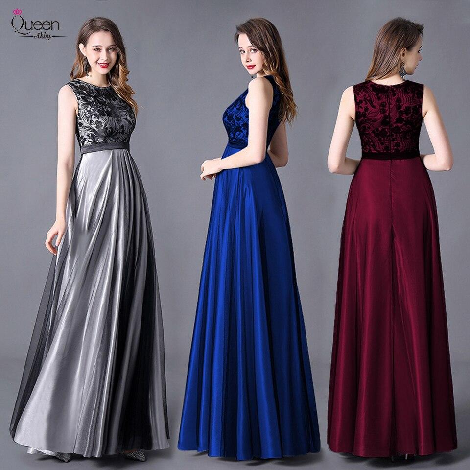 Appliqued Evening Dress A-line Sleeveless Scoop Floor-length Sequined Dress Zipper-up Dress For Party