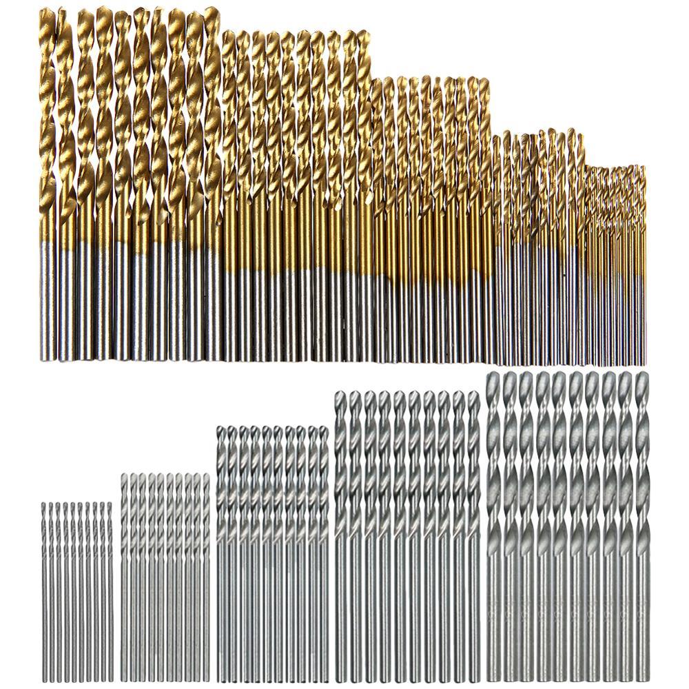 13/50/99/100Pcs HSS High Speed Steel Drill Bit Set Titanium For Wood Twist Drill Bit Set Tools Woodworking Wood Tool