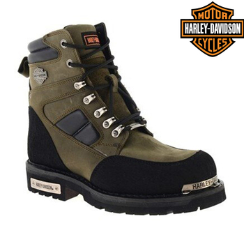 Original Harley Davidson Millo Olive Leather Boots 2021 new season men's genuine leather waterproof winter casual motorcycle boots