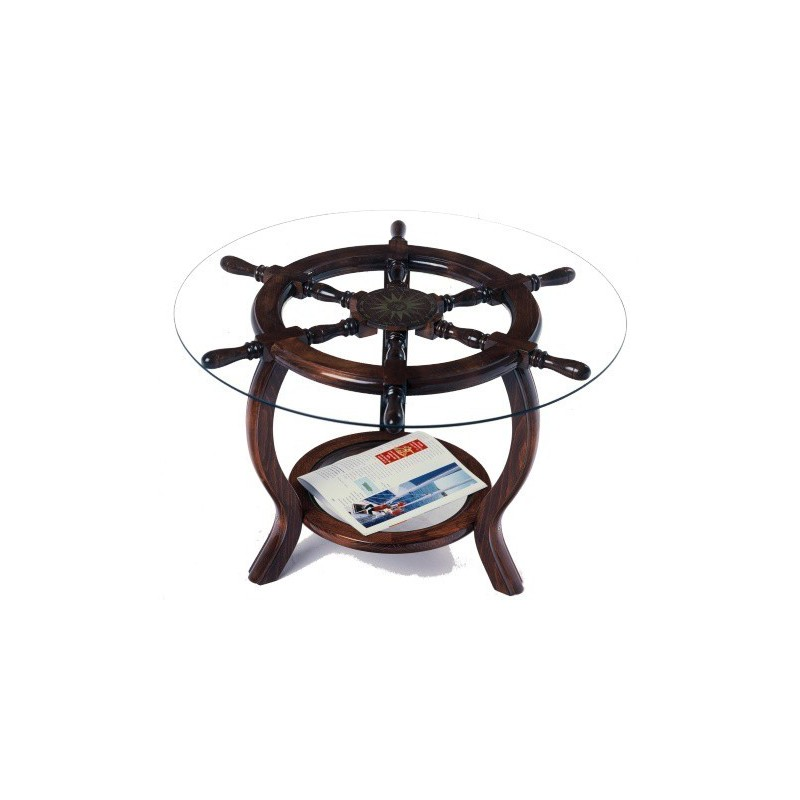 Rudder Wheel Table Ø72x49cm (served Without Glass)