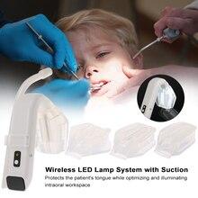 Intraoral שיניים אור עם יניקה אלחוטי LED מנורת מערכת Intraoral LED אור היגיינת פה רופא שיניים הפנס