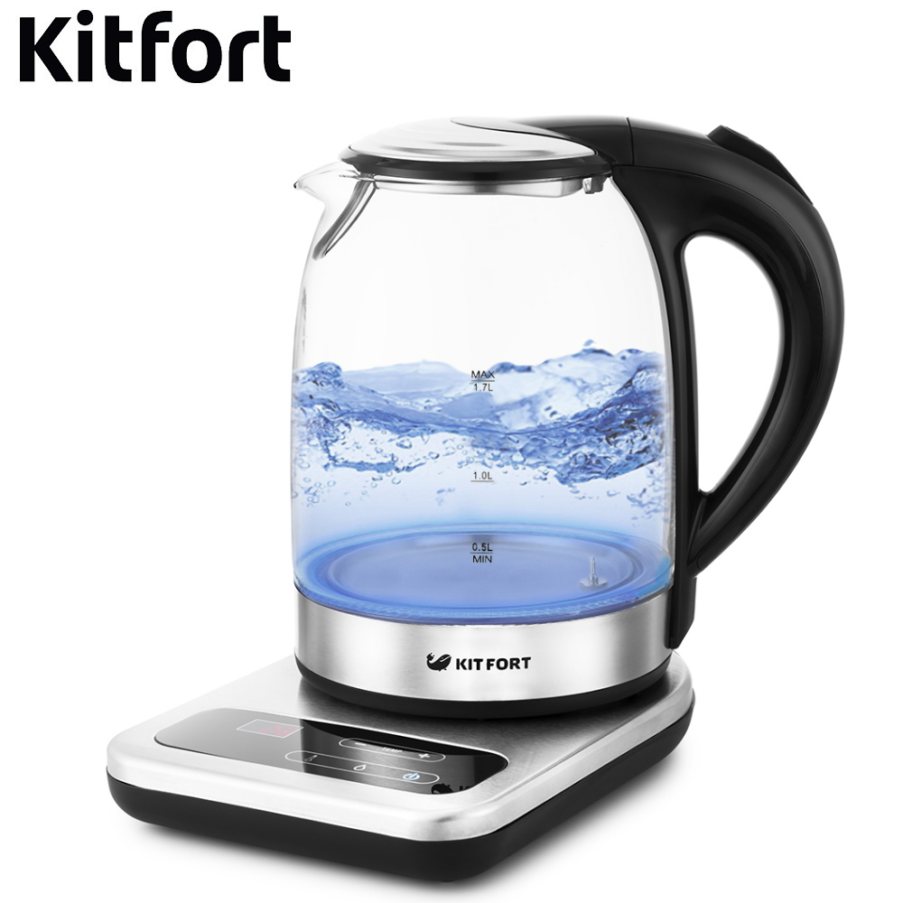 Electric kettle Kitfort KT-657 Kettle Electric Electric kettles home kitchen appliances kettle make tea Thermo все цены