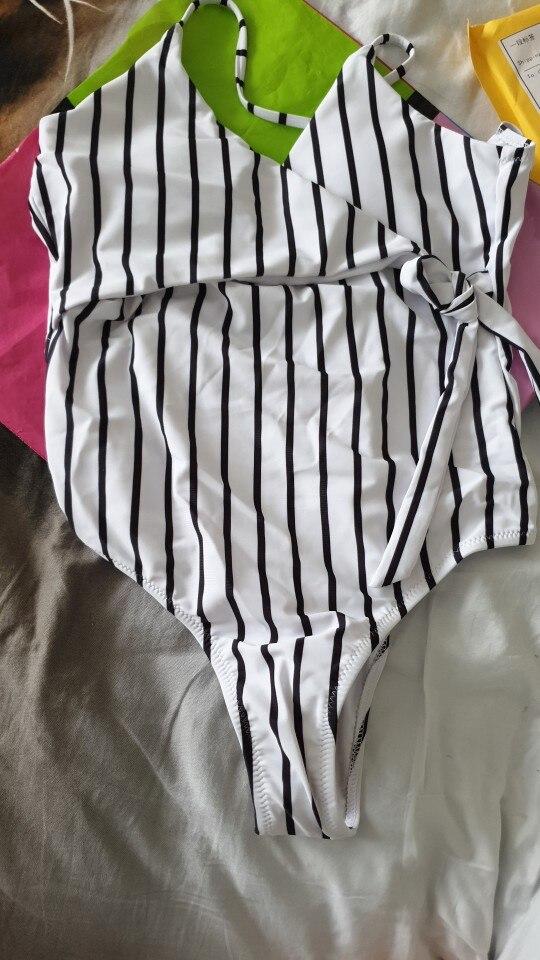 2020 Sexy Stripes Swimwear Women Backless One piece Swimsuit Badpak Monokini  Maillot femme  Bikini Maio Biquini Mujer Trikini suit suit suit one piecesuit women - AliExpress